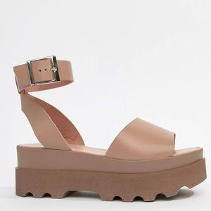 8a3b40fb7a0f ASOS Shoes - ASOS DESIGN Temple leather platform sandals